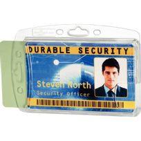 Durable - porte-carte de sécurité 54x85 mm 2 cartes - boite de 10