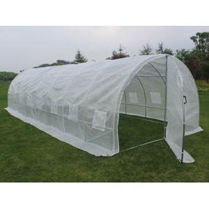 habitat et jardin serre tunnel de jardin avec porte mimosa 220g m2 pas cher achat vente. Black Bedroom Furniture Sets. Home Design Ideas