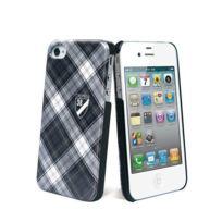 Cremieux - Coque ecossais noire pour iPhone 4/4S