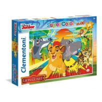 Clementoni - Puzzle 24 pièces Maxi La Garde du Roi Lion