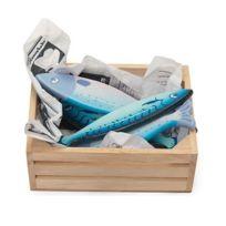 Le Toy Van - Cagette 6 poissons frais en bois - Accessoire dinette / marchande