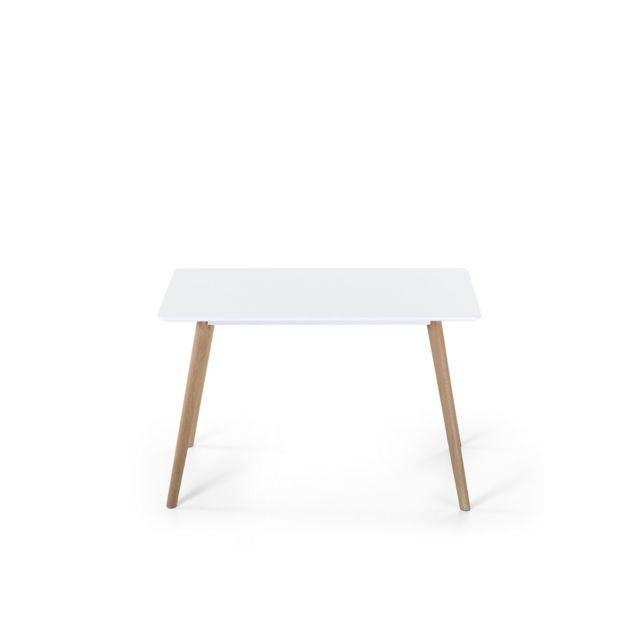 BELIANI Table de salle à manger blanche 120x80 cm FLY II - blanc