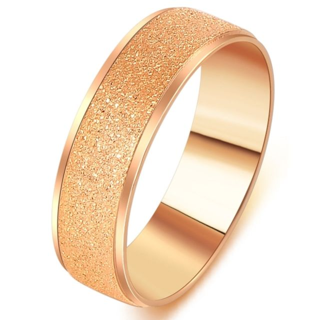 Wewoo Bague Rose Hommes Mode Haut De Gamme Frosted Surface
