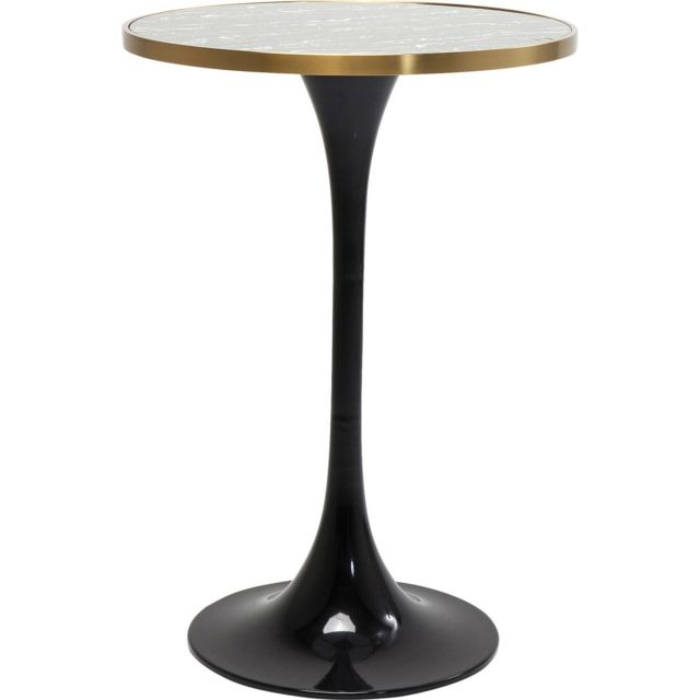 Karedesign Table de bar San Remo noire ronde 70cm Kare Design