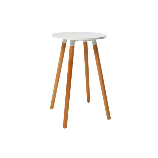Miliboo Table de bar design bois Gilda