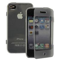 Vcomp - Housse Etui Coque silicone gel Portefeuille Livre rabat pour Apple iPhone 4/ 4S/ 4G - Transparent