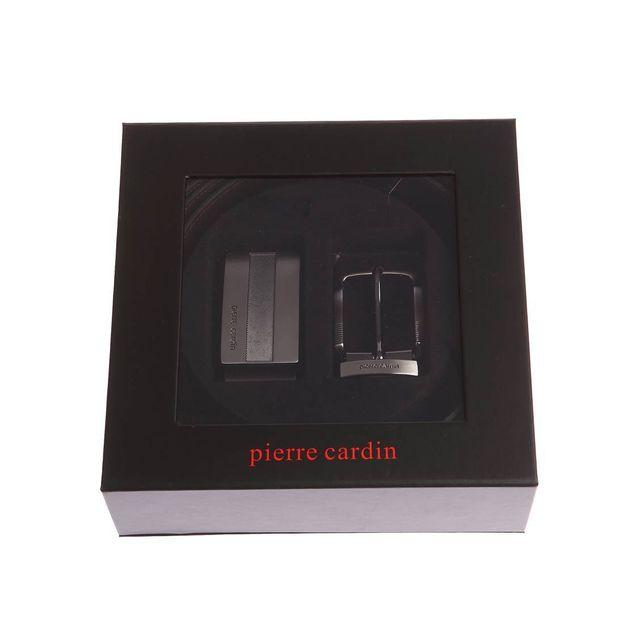 Pierre cardin - Coffret ceinture en cuir réversible noir et marron foncé à boucles  interchangeables   classique et pleine 110 - pas cher Achat   Vente ... 4984d16f5cd
