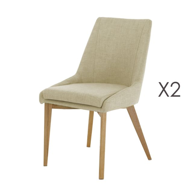 Lot de 2 Chaises beige OLET