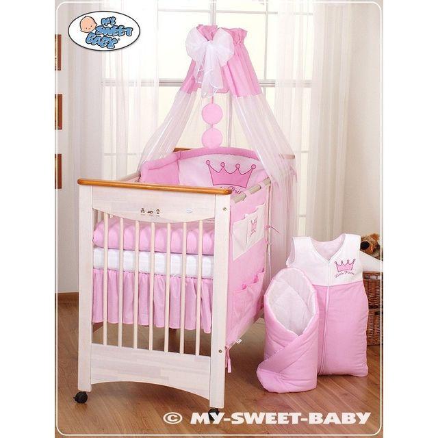 77236704f9347 Marque Generique - Parure de lit bébé prince ou princesse rose ciel de lit  mousseline avec top coton 140 70 - pas cher Achat   Vente Couvertures - ...