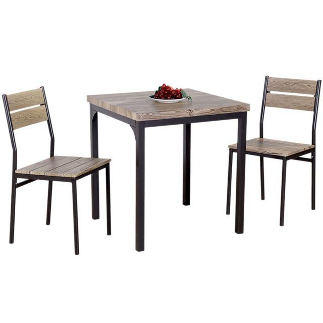 Altobuy Nani - Ensemble Repas Table + 2 Chaises