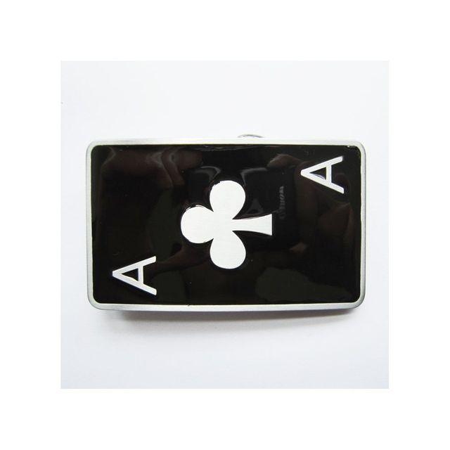 e2af15d566a Universel - Boucle de ceinture as de trefle noir carte a jouer poker ...