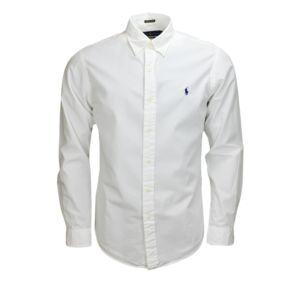 ralph lauren chemise basique blanche pour homme xl pas cher achat vente chemise homme. Black Bedroom Furniture Sets. Home Design Ideas