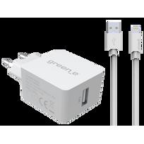 BIGBEN - Chargeur secteur 2.4A avec câble lightning - Blanc
