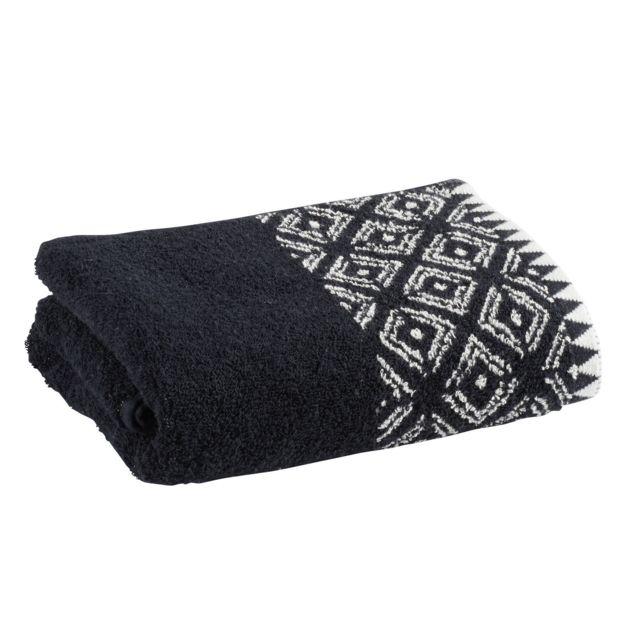 TEX HOME Drap de douche ENYA en coton Drap de douche ENYA en coton 70x140 cm - noir