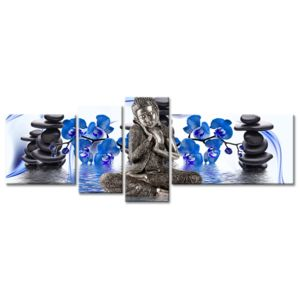 declina toile zen d coration bouddha petit prix tableau deco zen 130cm x 160cm pas cher. Black Bedroom Furniture Sets. Home Design Ideas