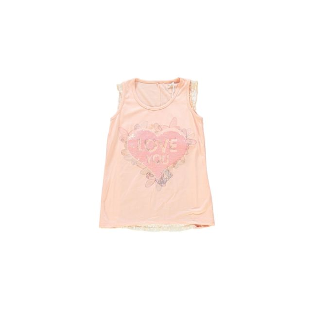 99ba793454d83 Guess - T Shirt Fille Saumon J81I33 - Taille - 8 ans - pas cher Achat   Vente  Tee shirt enfant - RueDuCommerce