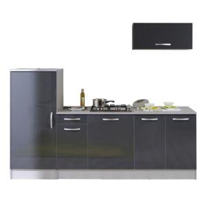 Last meubles pack cuisine 3 meubles adeline gris for Meuble cuisine gris brillant