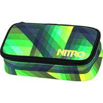 Nitro Snowboards - Nitro Trousse Pencil Case Vert Vert GÉOMÉTRIQUE 6 X 8 X 20 Cm, 1.3 Liter