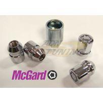 McGard - Lot de 4 Ecrous - 12x150 - L32.5 - H19 - Conique - Chrome - Antivol de Roues