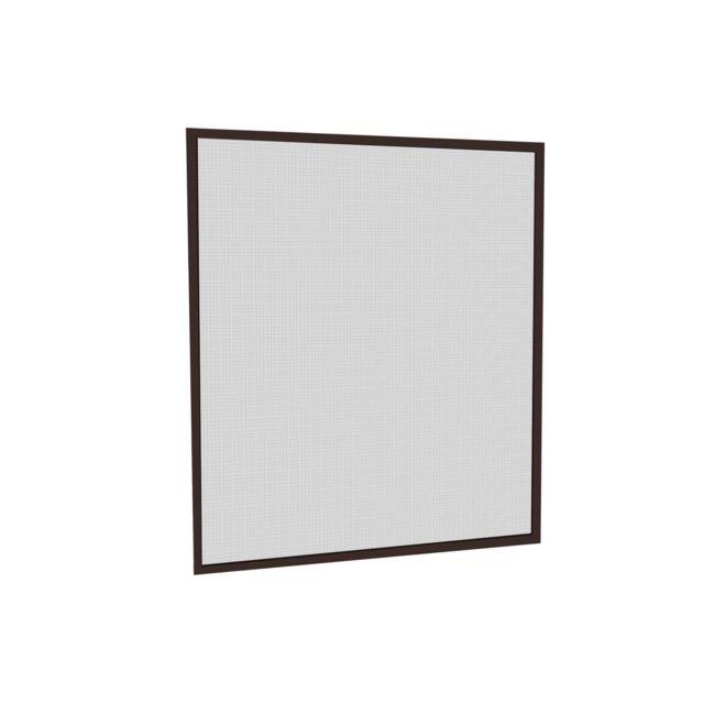 empasa moustiquaire cadre fixe amovible fen tre t lescopique alu marron 120 x 140 cm pas. Black Bedroom Furniture Sets. Home Design Ideas