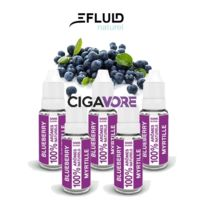 Efluid Naturel - Lot 5 e-liquides E-fluid Naturel Myrtille 10ml 0mg soit 1.98 euros le flacon