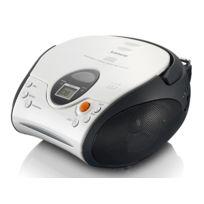 LENCO - Radio FM Stéréo avec Lecteur CD/MP3 - Blanc - SCD-24