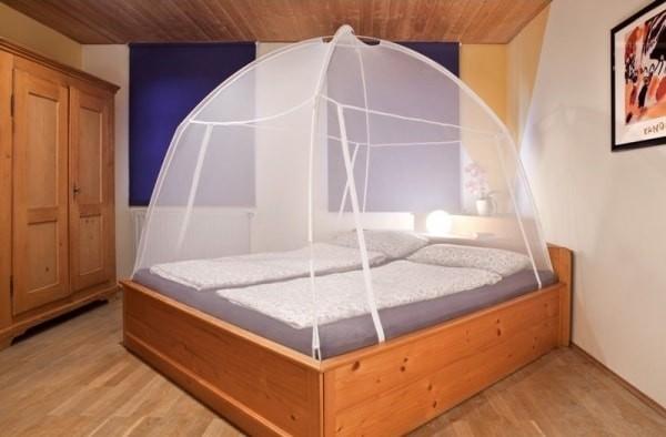Moustiquaire Tente de Lit Amovible de Voyage - Blanc Taille:L200xL150xH148cm