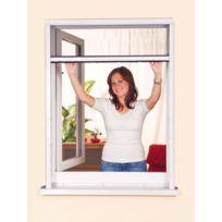 Empasa - Moustiquaire Enroulable Fenêtre - Pvc - Blanc L125 x H150 cm à découper soi-même