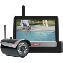 ABUS - kit video ecran 7 avec 1 camera d'exterieur ir sans fil 2,4 ghz