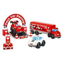 Abrick - Ensemble de 3 véhicules Fast Car F1