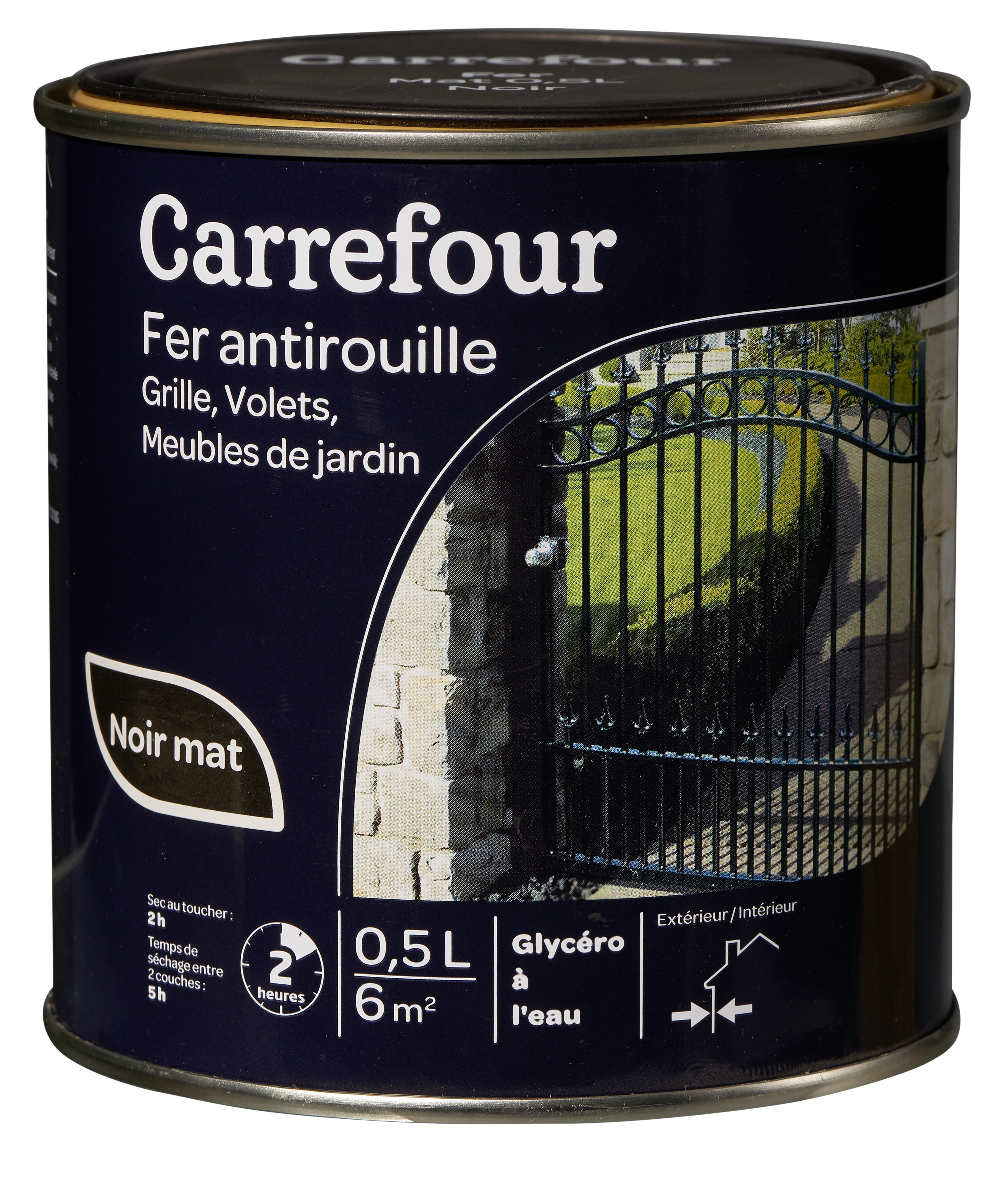 carrefour peinture fer antirouille 0 5l pas cher achat vente peinture ext rieure. Black Bedroom Furniture Sets. Home Design Ideas