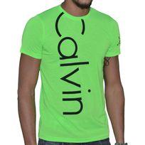 Calvin Klein - T Shirt Manches Courtes - Homme - Cmp13s - Vert Fluo