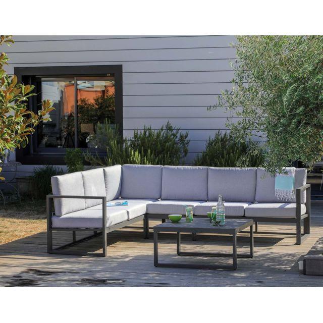 PROLOISIRS - Salon de jardin en aluminum avec méridienne Manhattan ...