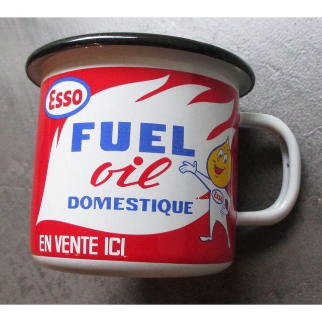 Universel Mug esso fue oil l en email tasse café emaillée goute huile