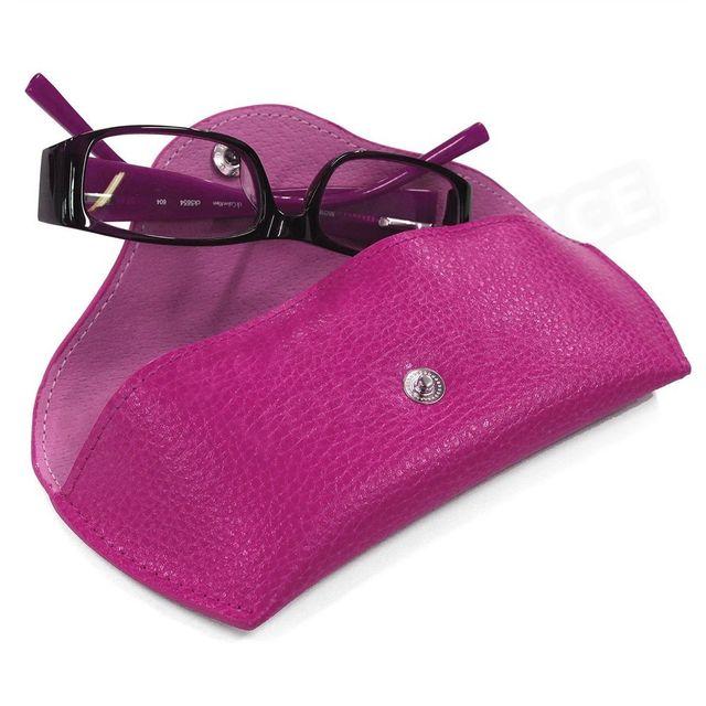 Volumica - Etui lunettes rigide cuir Rose-fuchsia Beaubourg - pas ... 4521313d85ff