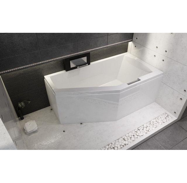 riho baignoire acrylique d 39 angle gauche geta 160x90 cm. Black Bedroom Furniture Sets. Home Design Ideas