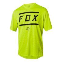 Fox - Maillot Ranger Bars manche courte noir jaune
