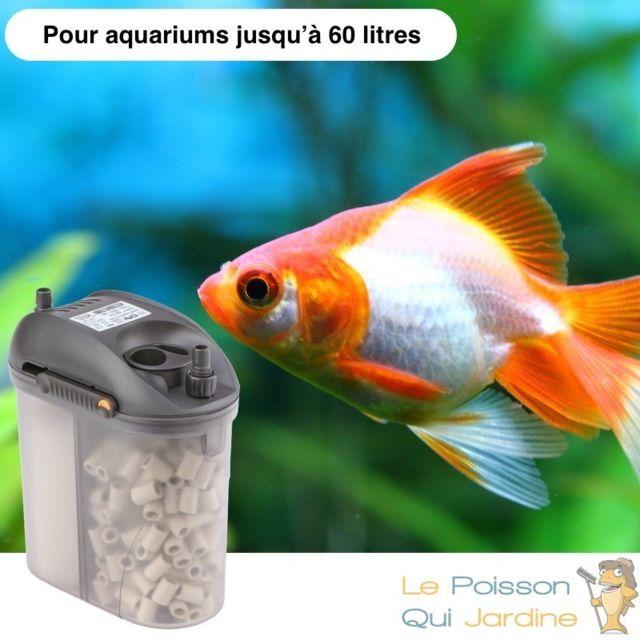 Le Poisson Qui Jardine Filtre Extérieur Pour Aquariums De 60 Litres : 300 l/h, Garantie 3 ans