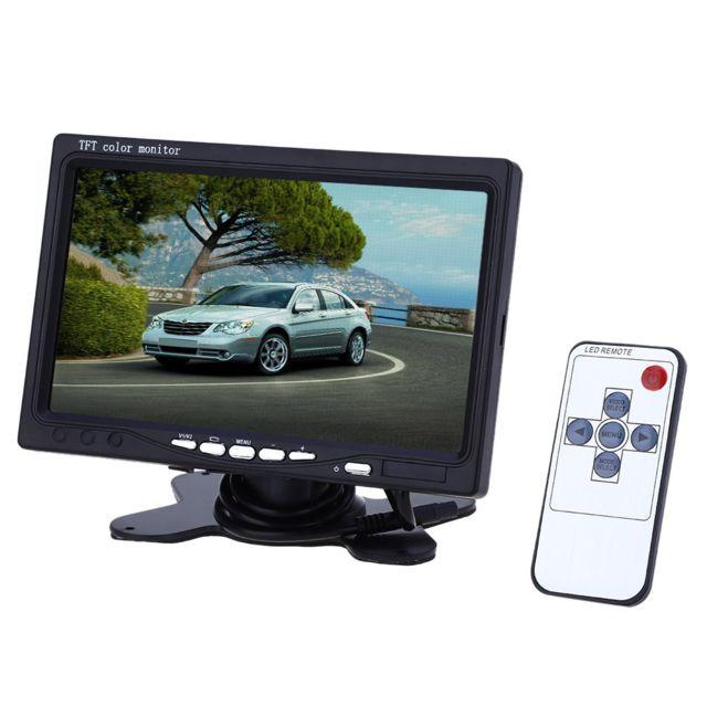 Auto-hightech Appui-tête Tft Lcd 7 pouces de voiture 234 x 480 avec moniteur d'écran - Noir