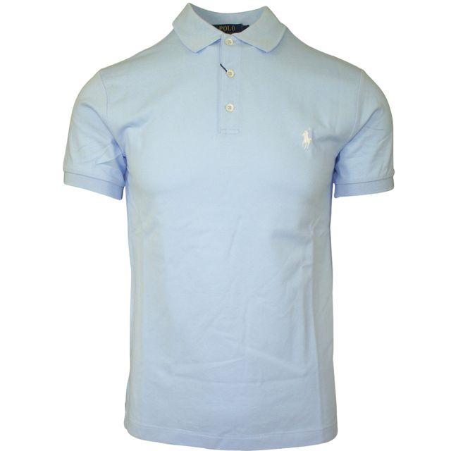 03f2cc53355311 Ralph Lauren - Polo bleu clair - pas cher Achat   Vente Polo homme -  RueDuCommerce