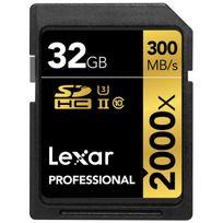 Lexar - 32GB Sdhc 2000x Uhs-ii