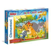 Clementoni - Puzzle 60 pièces Maxi : La Garde du Roi Lion
