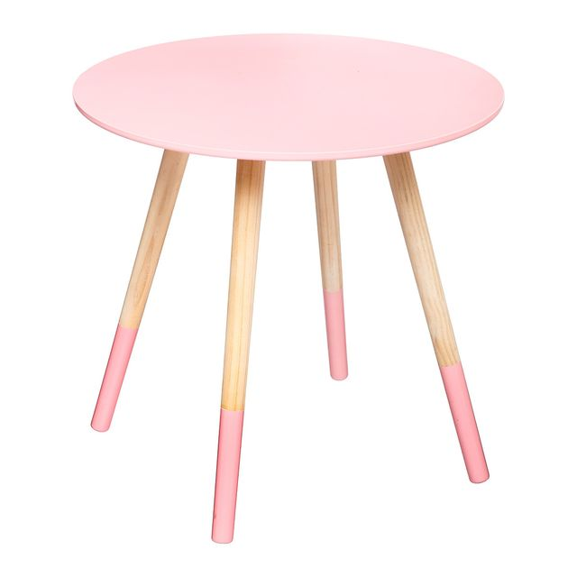 atmosphera table basse mileo rose lovely 48cm pas cher achat vente meubles tv hi fi. Black Bedroom Furniture Sets. Home Design Ideas
