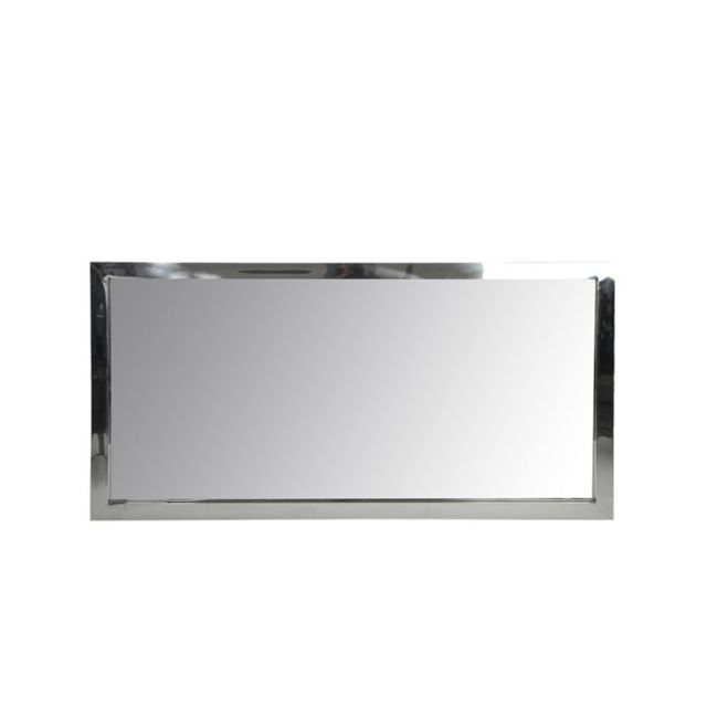 Tousmesmeubles Miroir rectangulaire Acier taille S - Hash