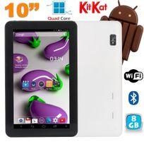 Yonis - Tablette 10 pouces Quad Core Android 4.4 WiFi Bluetooth 8Go Blanc