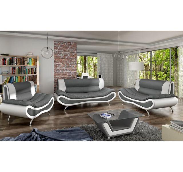 CHLOE DESIGN Table basse design ORI - gris et blanc