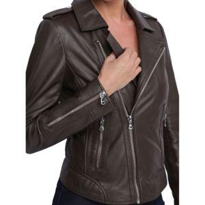 Acheter veste cuir femme pas cher