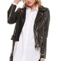 prix limité achat le plus récent marque populaire Blouson Cuir Perfecto court Couleur - noir, Taille Femme - 42