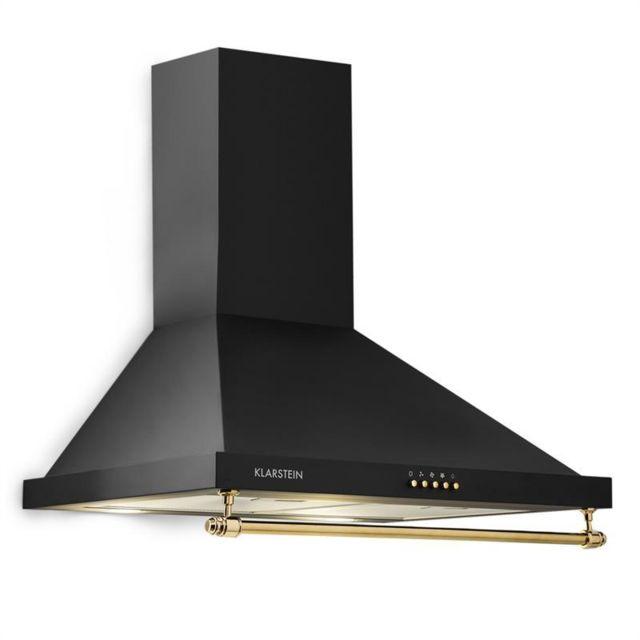 KLARSTEIN Montblanc 60 Hotte aspirante 610 m³/h 165 W 2 x 1,5 W LED avec rambarde -noir