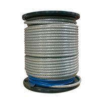 Chaubeyre - Câble âme métallique gainé - câble D: 5 mm et gaine Vpc D: 6.5 mm - bobine de 76 m - 7 torons de 19 fils